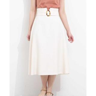 プロポーションボディドレッシング(PROPORTION BODY DRESSING)のベルト付きフレアスカート(ロングスカート)