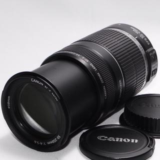 キヤノン(Canon)の☆手ぶれ補正付き☆Canon 55-250mm 大迫力の望遠レンズ・美品(レンズ(ズーム))