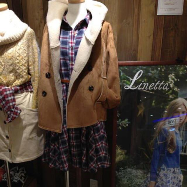 Linetta(リネッタ)のリネッタ♥チェックワンピース レディースのワンピース(ひざ丈ワンピース)の商品写真