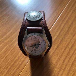 ケイシイズ(KC,s)のレザー ブレスレット ウォッチ コンチョ(腕時計(アナログ))