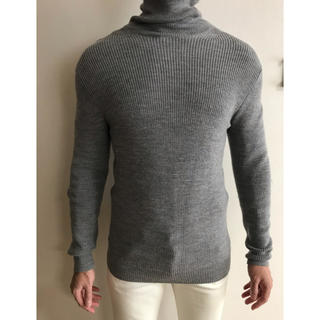 グリーンレーベルリラクシング(green label relaxing)の【Men's】グレーのセーター(ニット/セーター)