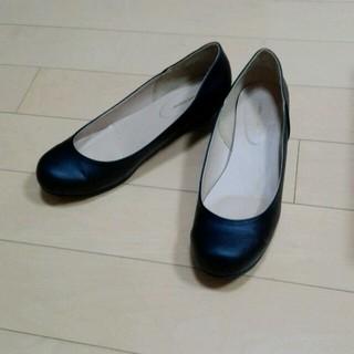 ⑤シンプル黒いお靴❤ 26cm(ハイヒール/パンプス)