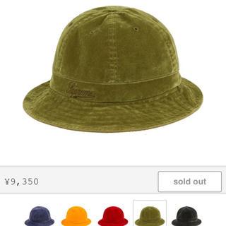 Supreme - supreme washed velvet bell hat M/L 19aw