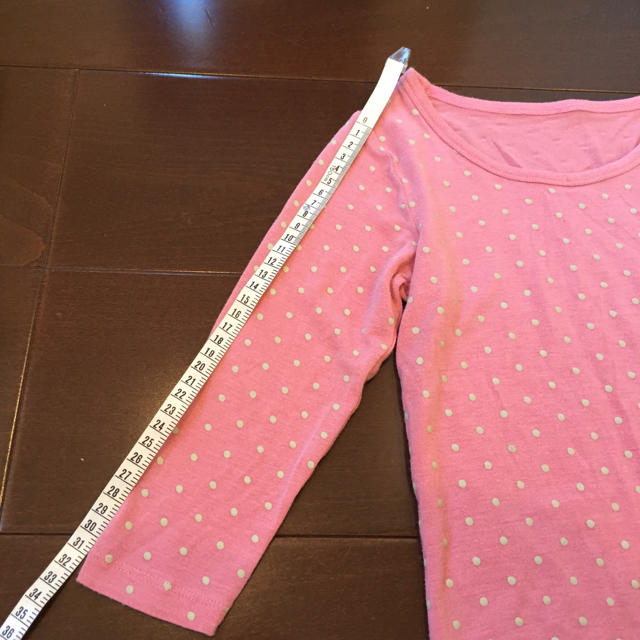 GU(ジーユー)のGU キッズ 女の子 6?8分袖インナー キッズ/ベビー/マタニティのキッズ服女の子用(90cm~)(下着)の商品写真
