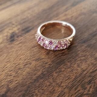 ジュエリーツツミ(JEWELRY TSUTSUMI)のゆみ様K10ピンクゴールドキラキラリング(リング(指輪))