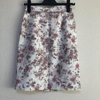アプワイザーリッシェ(Apuweiser-riche)のApuweiser-riche花柄スカート(ひざ丈スカート)