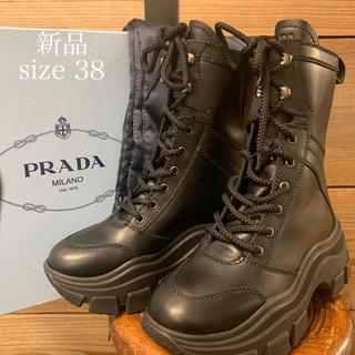 プラダ(PRADA)の新品 2019AW PRADA プラダ  コンバット レザー ブーツ 厚底 (ブーツ)