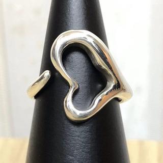 ティファニー(Tiffany & Co.)の【超美品】Tiffany ティファニー オープンハート シルバー リング(リング(指輪))