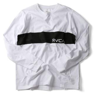 ルーカ(RVCA)のS 白 RVCA/ルーカ BORDER RVCA ボーダー ロンTシャツ(Tシャツ(長袖/七分))