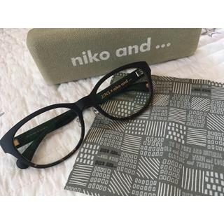ニコアンド(niko and...)のカズちゃん様 専用 niko and...  伊達眼鏡(J!NS)コラボ(サングラス/メガネ)