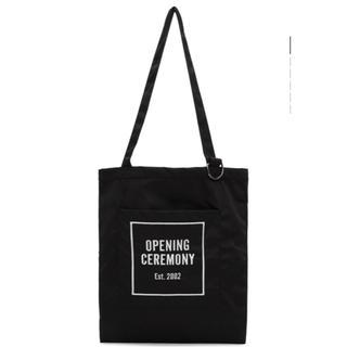 オープニングセレモニー(OPENING CEREMONY)のオープニングセレモニー トートバッグ ブラック 美品(トートバッグ)