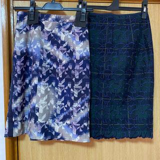 アプワイザーリッシェ(Apuweiser-riche)のアプワイザーリッシェ &  ジャスグリッティー   スカート   2枚セット(ひざ丈スカート)
