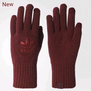 アディダス(adidas)の新品 adidas originals 手袋 グローブ バーガンディ 同色ロゴ(手袋)