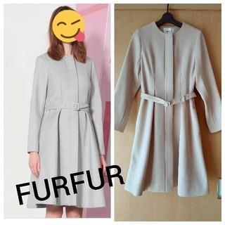 ファーファー(fur fur)のFURFUR★定価¥51840ノーカラーコート(ロングコート)