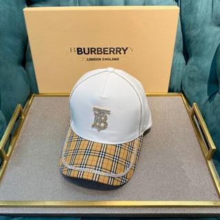 BURBERRY - Burberry バーバリー キャップ 男女通用 ロゴ入り 野球帽 美品