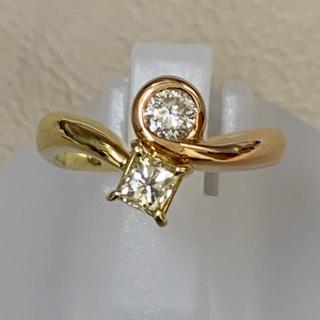 K18 YG/PG ダイヤモンド リング(リング(指輪))