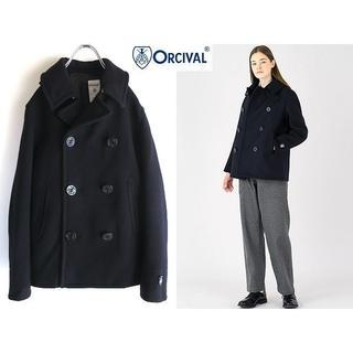 オーシバル(ORCIVAL)の定番 オーシバル ジーロンラム 二重織メルトン ショートPコート 1 紺(ピーコート)