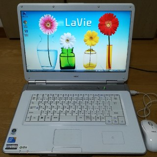 エヌイーシー(NEC)のNEC ノートパソコン Lavie ホワイト(ノートPC)
