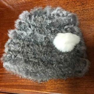 オルベネ(ORBENE)のラビットファー ニット帽(ニット帽/ビーニー)