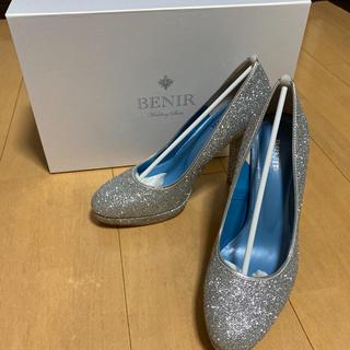 キラキラ 靴 パンプス ヒール2019.12.24〜保管品(ハイヒール/パンプス)