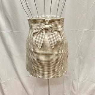 ティティアンドコー(titty&co)のtitty&Co. ギンガムチェックスカート ミニスカート (ミニスカート)
