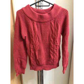 エニィスィス(anySiS)のanysis 赤色ニット +Aラインスカート(ニット/セーター)