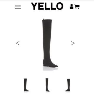 イエローブーツ(Yellow boots)のTOKYO BLACK FLAT LONG(ブーツ)