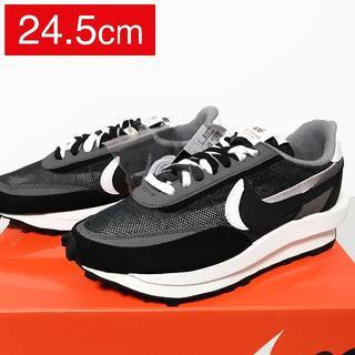 ナイキ(NIKE)の【24.5cm】Nike × Sacai LD Waffle Black(スニーカー)