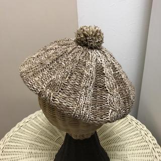 オアグローリー(or Glory)のオアグローリー  リネン  ベレー帽(ハンチング/ベレー帽)