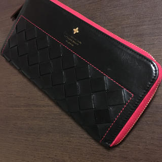 フレームワーク(FRAMeWORK)のフレームワーク本革ブラック・ピンク 長財布(財布)