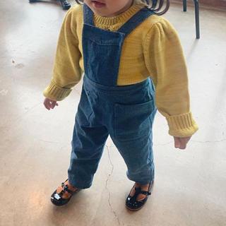 キャラメルベビー&チャイルド(Caramel baby&child )のsoor ploom 同型 デニムサロペット (パンツ/スパッツ)