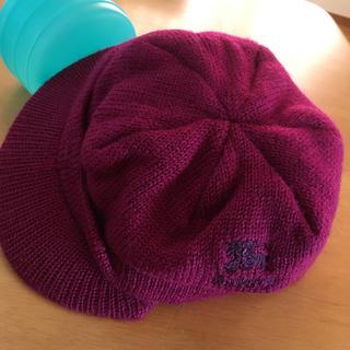バーバリー(BURBERRY)のバーバリーズ❤️ブルレ ニット帽 ウール100%可愛い 中美品(ニット帽/ビーニー)