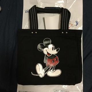 ミッキーマウス(ミッキーマウス)のリゾート限定ミッキートートバックMサイズ黒(トートバッグ)