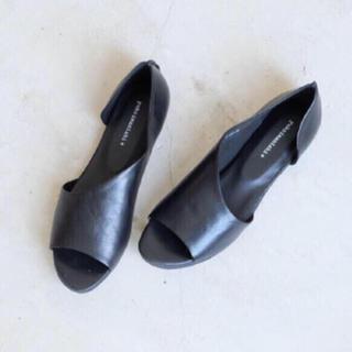 フレームワーク(FRAMeWORK)のデザインカットフラットシューズ(ローファー/革靴)