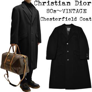 クリスチャンディオール(Christian Dior)の★希少★Christian Dior★ディオール★80s★チェスターコート★黒★(チェスターコート)