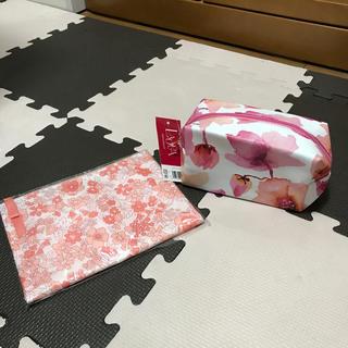 ファンケル(FANCL)の花柄 化粧ポーチ 2個セット(ポーチ)