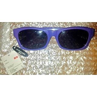 ユニクロ(UNIQLO)の新品 ユニクロ UV400♪ウェリントン サングラス 紫(サングラス/メガネ)
