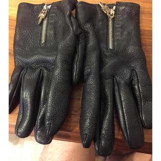 クロムハーツ(Chrome Hearts)のクロムハーツ 革手袋 正規品 美品  メンズ(手袋)