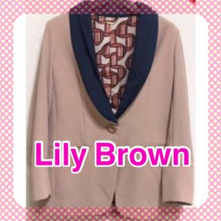 リリーブラウン(Lily Brown)のリリーブラウン Lily Brown サイズF ジャケット(ノーカラージャケット)