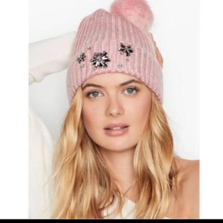 ヴィクトリアズシークレット(Victoria's Secret)の新品 ヴィクトリアシークレット ニット帽(ニット帽/ビーニー)