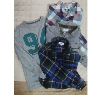 オールドネイビー(Old Navy)のOLD NAVY シャツ4枚 キッズLサイズ(Tシャツ/カットソー)