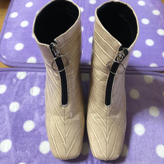 コウベレタス(神戸レタス)の☆美品 神戸レタス クロコ風ショートブーツ#オリエンタルパシフィック#ジーユー(ブーツ)