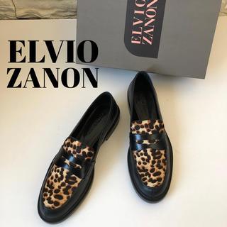 スコットクラブ(SCOT CLUB)の新品2.6万★ELVIO ZANON 上質レオパード柄ローファー(ローファー/革靴)