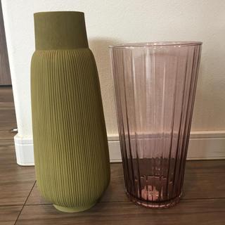 アクタス(ACTUS)の新品 アクタス  ACTUS フラワーベース 花瓶 ガラス パープル(花瓶)