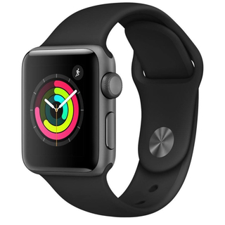 アップルウォッチ(Apple Watch)の【新品・未開封】アップルウォッチ シリーズ3 38mm グレー GPS(腕時計(デジタル))