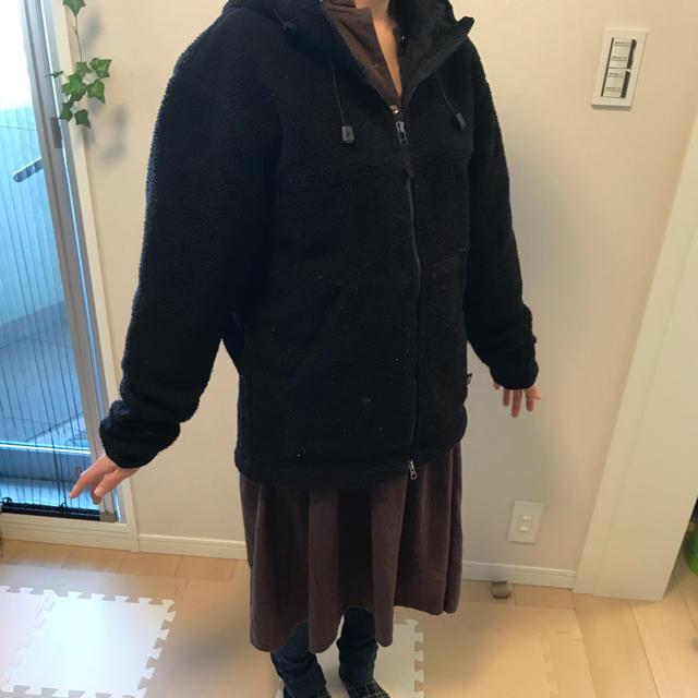 STUSSY(ステューシー)のステューシー STUSSY ボア もこもこ アウター 黒 メンズのジャケット/アウター(ブルゾン)の商品写真