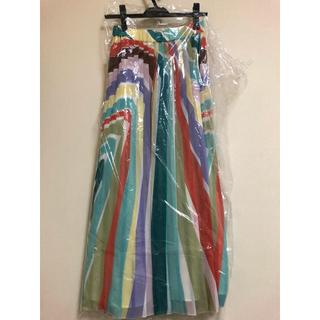 グレースコンチネンタル(GRACE CONTINENTAL)のストライププリントスカート(ひざ丈スカート)