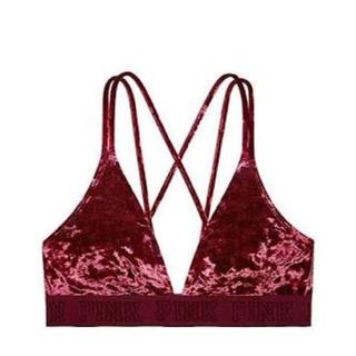 ヴィクトリアズシークレット(Victoria's Secret)のvictoria secret pink ベロア ブラレット(ブラ)