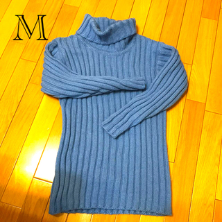レディースセーターサイズM水色(ニット/セーター)