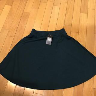 グリーンフレアスカート  、サイズL未使用(ミニスカート)